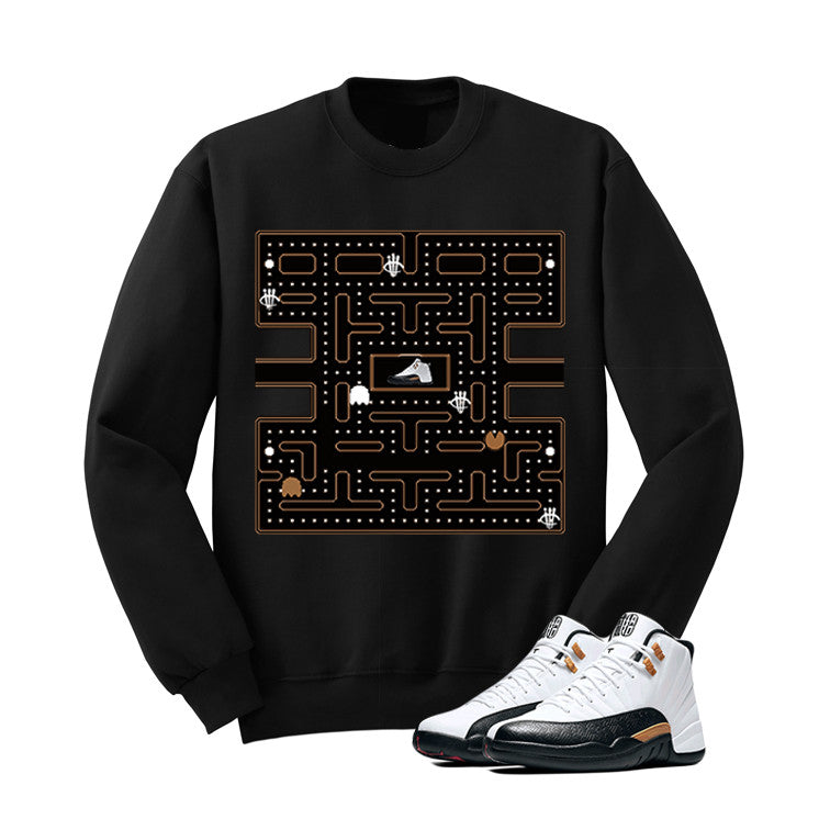 Jordan 12 Chinese New Year Black T Shirt (Pacman) - illCurrency Matching T-shirts For Sneakers and Sneaker Release Date News - 2