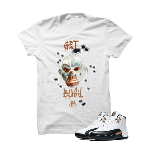 Jordan 12 Chinese New Year White T Shirt (Get Busy)