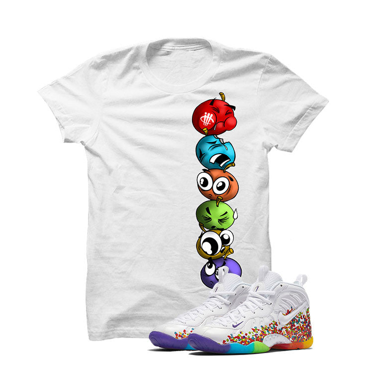 Nike Little Posite Pro Fruity Pebbles White T Shirt (Cherry Stack) - illCurrency Matching T-shirts For Sneakers and Sneaker Release Date News - 1