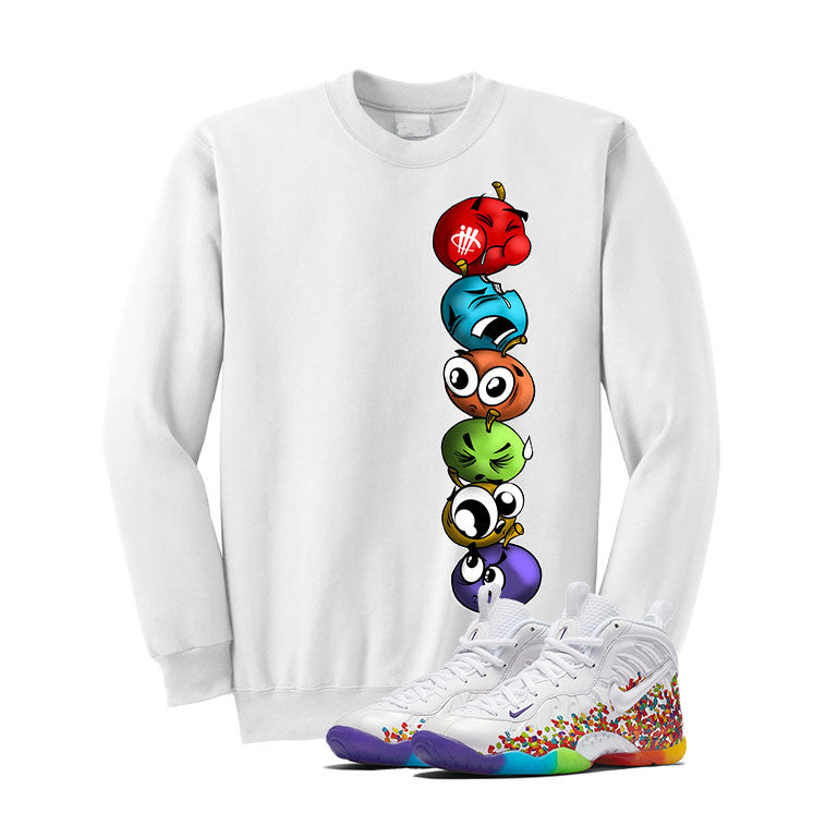 Nike Little Posite Pro Fruity Pebbles White T Shirt (Cherry Stack) - illCurrency Matching T-shirts For Sneakers and Sneaker Release Date News - 2