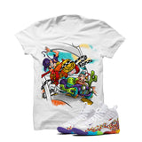 Nike Little Posite Pro Fruity Pebbles White T Shirt (Stone Rock Race) - illCurrency Matching T-shirts For Sneakers and Sneaker Release Date News - 1