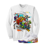 Nike Little Posite Pro Fruity Pebbles White T Shirt (Stone Rock Race) - illCurrency Matching T-shirts For Sneakers and Sneaker Release Date News - 2
