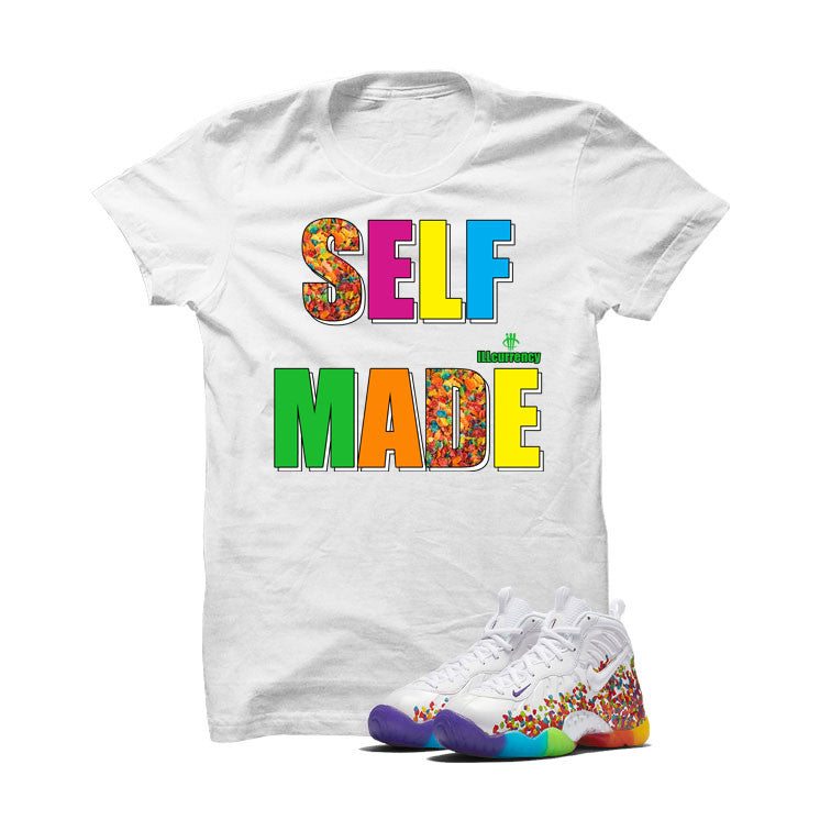 Nike Little Posite Pro Fruity Pebbles White T Shirt (Self Made) - illCurrency Matching T-shirts For Sneakers and Sneaker Release Date News - 1