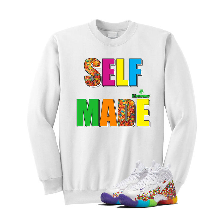Nike Little Posite Pro Fruity Pebbles White T Shirt (Self Made) - illCurrency Matching T-shirts For Sneakers and Sneaker Release Date News - 2