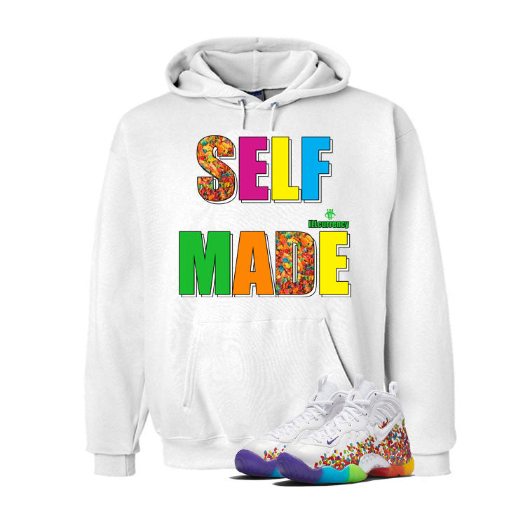 Nike Little Posite Pro Fruity Pebbles White T Shirt (Self Made) - illCurrency Matching T-shirts For Sneakers and Sneaker Release Date News - 3