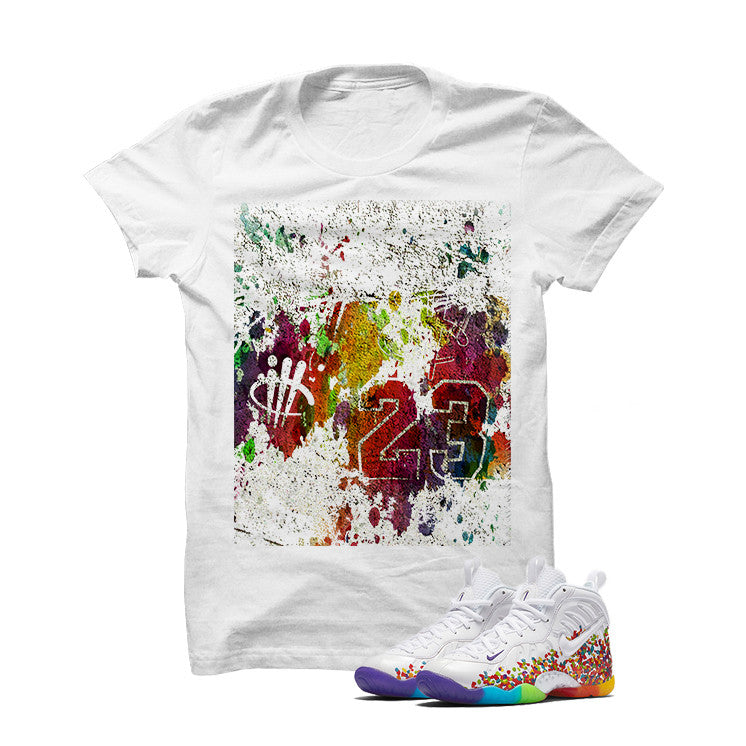 Nike Little Posite Pro Fruity Pebbles White T Shirt (23) - illCurrency Matching T-shirts For Sneakers and Sneaker Release Date News