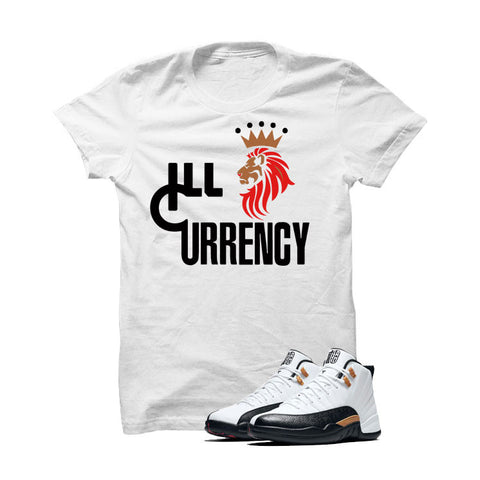 Jordan 12 Chinese New Year White T Shirt (Lion Currency)