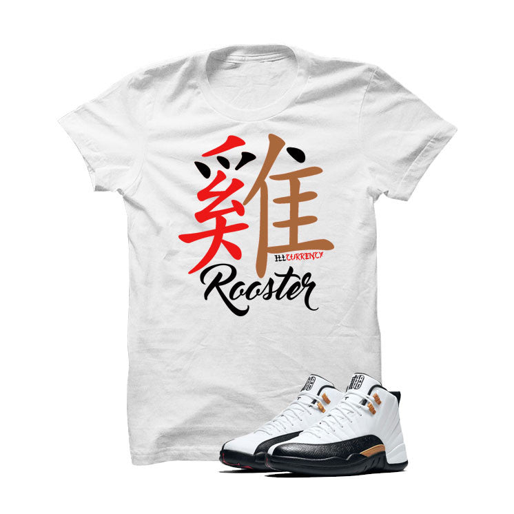 Jordan 12 Chinese New Year White T Shirt (Rooster) - illCurrency Matching T-shirts For Sneakers and Sneaker Release Date News - 1