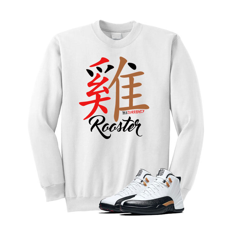 Jordan 12 Chinese New Year White T Shirt (Rooster) - illCurrency Matching T-shirts For Sneakers and Sneaker Release Date News - 2