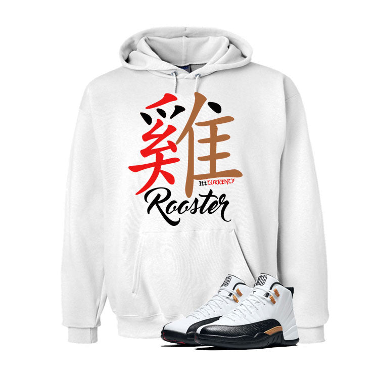 Jordan 12 Chinese New Year White T Shirt (Rooster) - illCurrency Matching T-shirts For Sneakers and Sneaker Release Date News - 3