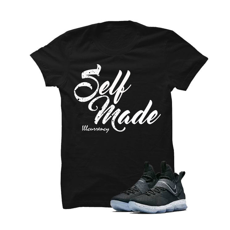 Nike Lebron 14 Black Ice Black T Shirt (Self Made) - illCurrency Matching T-shirts For Sneakers and Sneaker Release Date News - 1