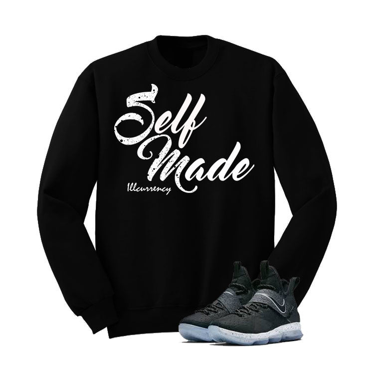 Nike Lebron 14 Black Ice Black T Shirt (Self Made) - illCurrency Matching T-shirts For Sneakers and Sneaker Release Date News - 2