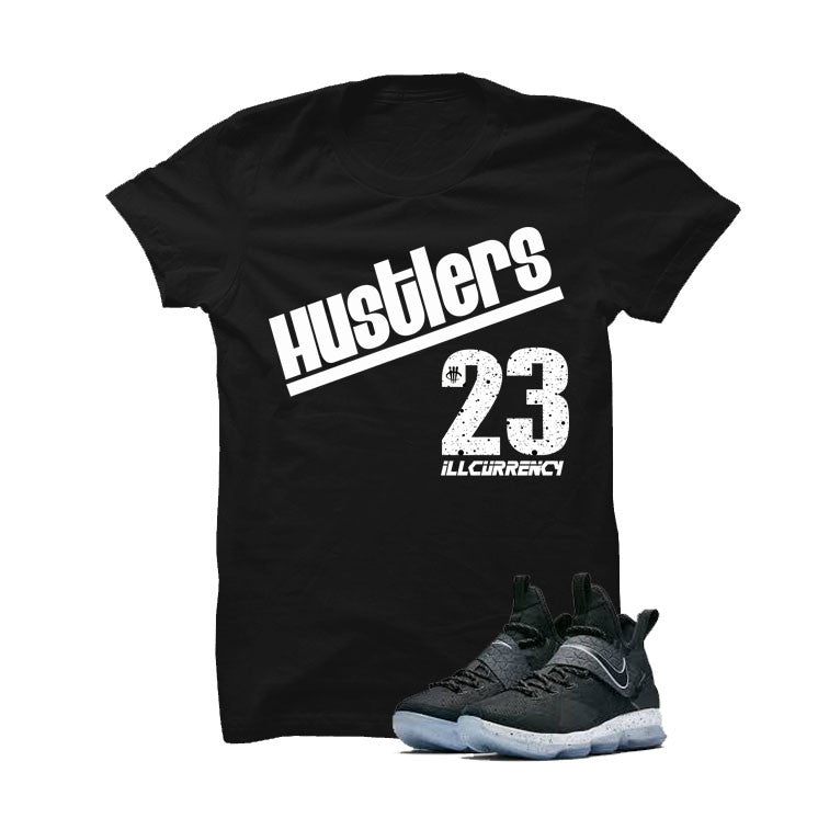 Nike Lebron 14 Black Ice Black T Shirt (Hustlers) - illCurrency Matching T-shirts For Sneakers and Sneaker Release Date News - 1