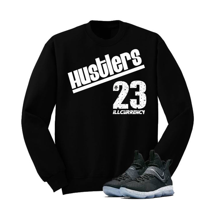 Nike Lebron 14 Black Ice Black T Shirt (Hustlers) - illCurrency Matching T-shirts For Sneakers and Sneaker Release Date News - 2