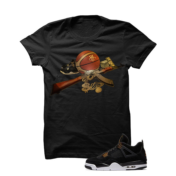 Jordan 4 Royalty Black T Shirt (Ball Out) - illCurrency Matching T-shirts For Sneakers and Sneaker Release Date News - 1