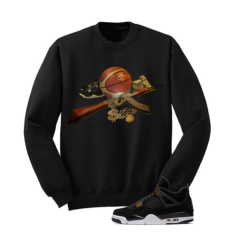 Jordan 4 Royalty Black T Shirt (Ball Out) - illCurrency Matching T-shirts For Sneakers and Sneaker Release Date News - 2