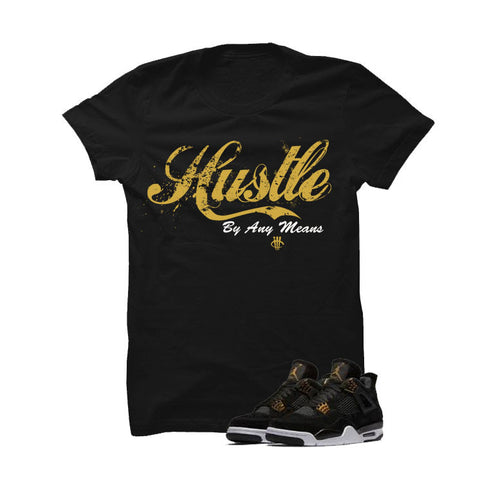 Jordan 4 Royalty Black T Shirt (Lips)