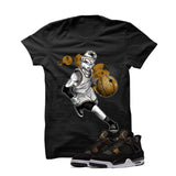 Jordan 4 Royalty Black T Shirt (Alien Mike) - illCurrency Matching T-shirts For Sneakers and Sneaker Release Date News - 1