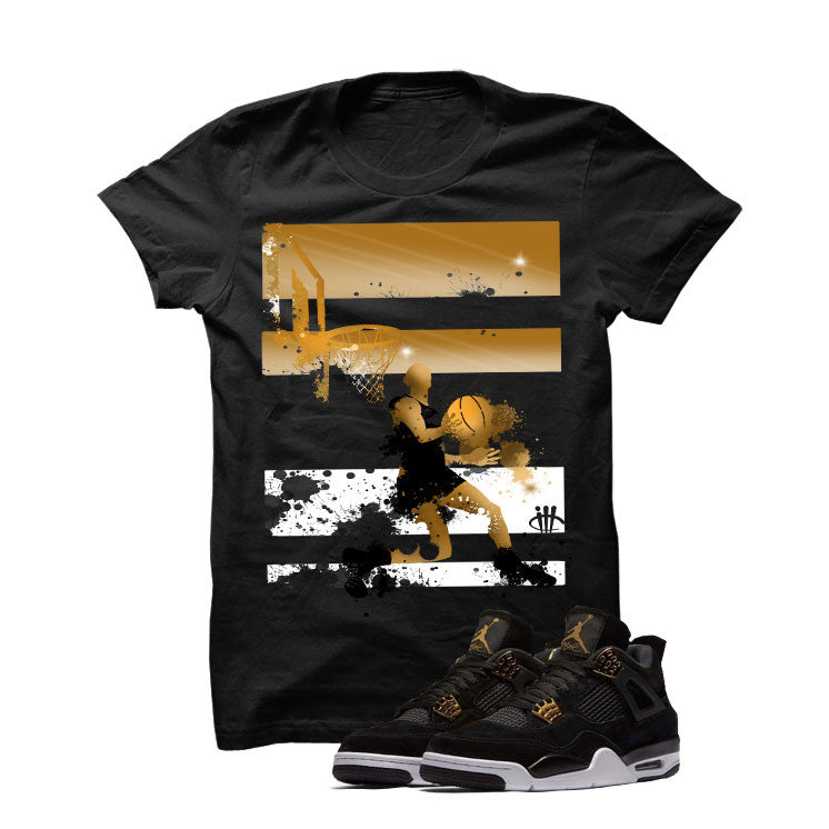 Jordan 4 Royalty Black T Shirt (Reverse Dunk) - illCurrency Matching T-shirts For Sneakers and Sneaker Release Date News - 1