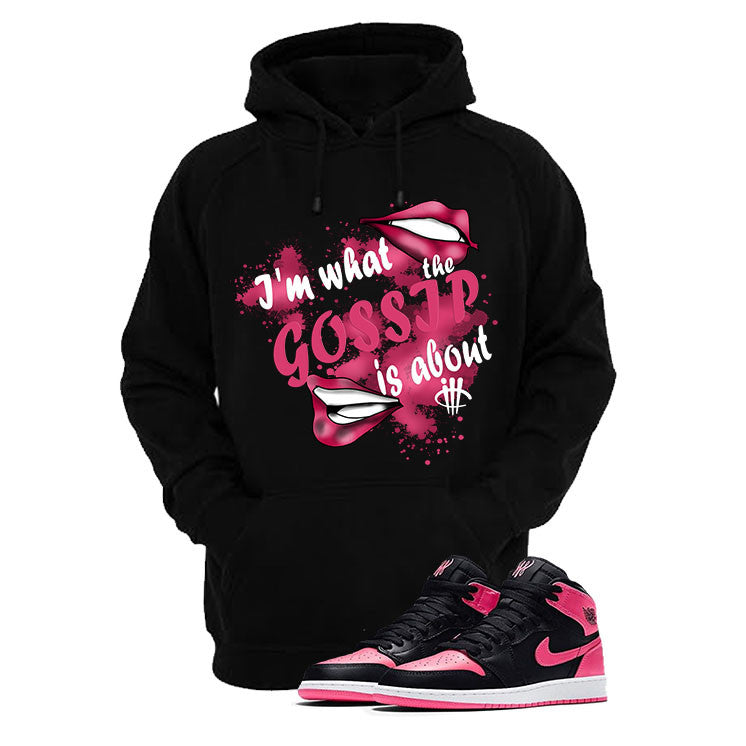 Jordan 1 Retro High Serena Williams Black T Shirt (Gossip) - illCurrency Matching T-shirts For Sneakers and Sneaker Release Date News - 3