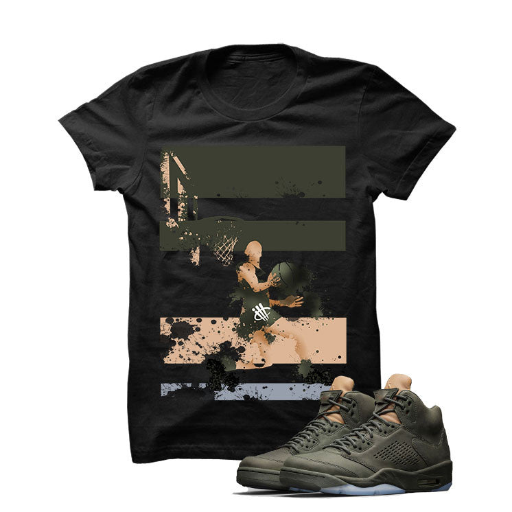 Jordan 5 Take Flight Black T Shirt (Reverse Dunk) - illCurrency Matching T-shirts For Sneakers and Sneaker Release Date News - 1