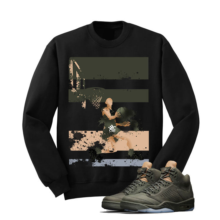 Jordan 5 Take Flight Black T Shirt (Reverse Dunk) - illCurrency Matching T-shirts For Sneakers and Sneaker Release Date News - 2