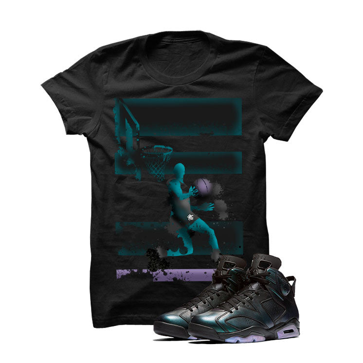Jordan 6 All-Star Black T Shirt (Reverse Dunk) - illCurrency Matching T-shirts For Sneakers and Sneaker Release Date News - 1