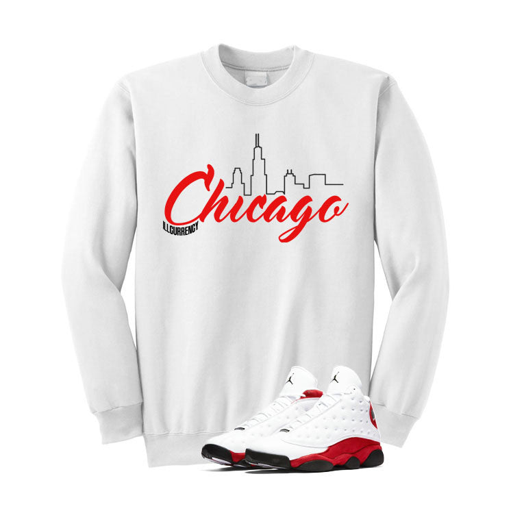 Jordan 13 Chicago White T Shirt (Chicago) - illCurrency Matching T-shirts For Sneakers and Sneaker Release Date News - 2