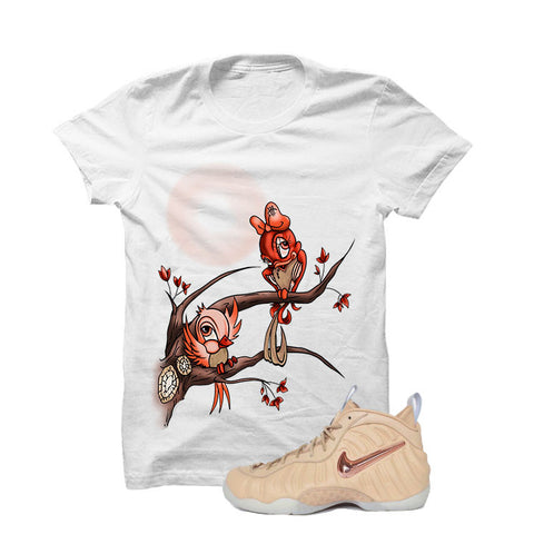 ... Foamposite Pro Vachetta Tan White T Shirt (Love Birds) ...