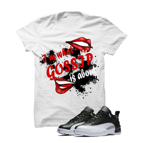 Jordan 12 Low Playoff White T Shirt (Gossip)
