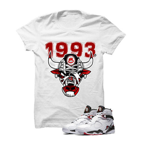 Jordan 8 Alternate White T Shirt (Face Wood)