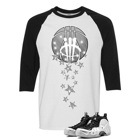 Foamposite Pro Silver Surfer White And Black Baseball T's (Magic Ball)