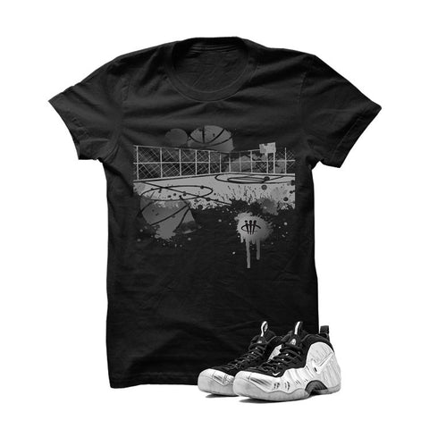 Foamposite Pro Silver Surfer Black T Shirt (B Court)