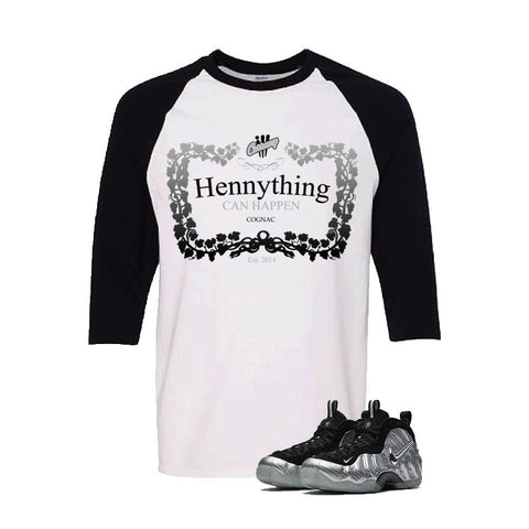 Foamposite Pro Silver Surfer White And Black Baseball T's (Henny)