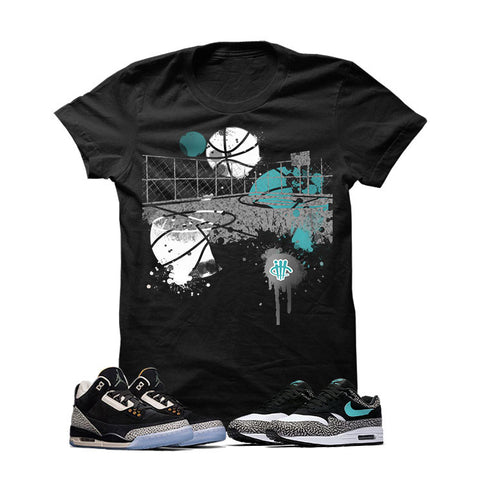 Atmos X Nike/Jordan Pack Black T Shirt (Air Max B Court)