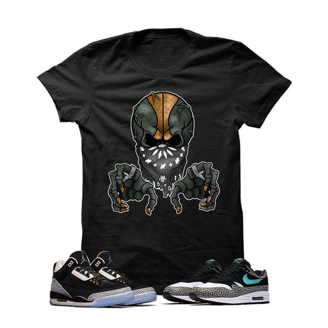 Atmos X Nike/Jordan Pack Black T Shirt (Ball Skull)