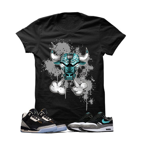 Atmos X Nike/Jordan Pack Black T Shirt (Air Max Iron Bull)