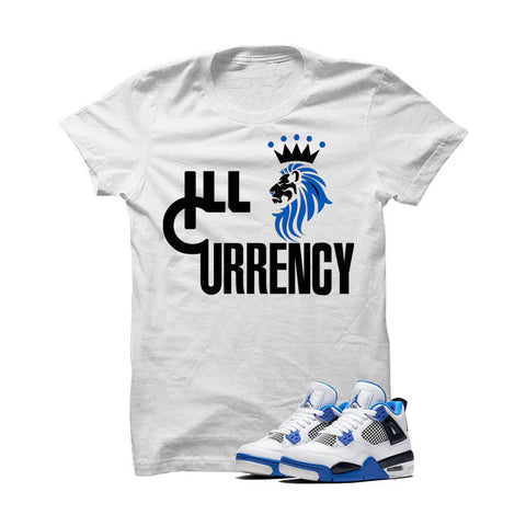 Jordan 4 Motorsports White T Shirt (Lion Currency)