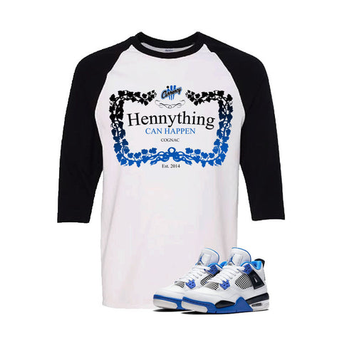 Jordan 4 Motorsports White And Black Baseball T's (Henny)