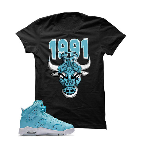 Jordan 6 Gs Still Blue Black T Shirt (Sneaker Bull)