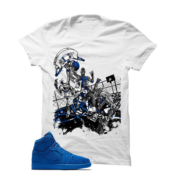 Jordan 1 Retro High Blue Suede - Official Matching Shirts