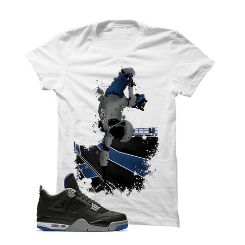 Jordan 4 Game Royal White T Shirt (Skateboard)