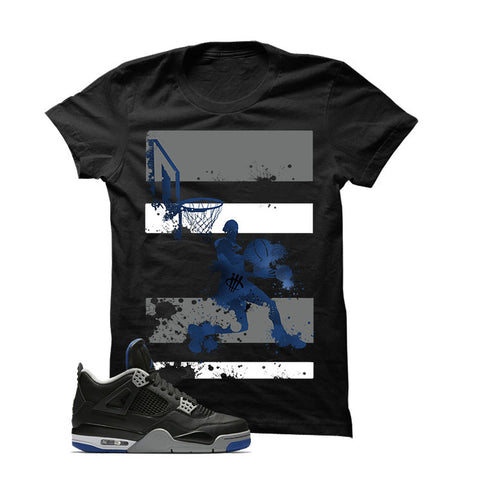 Jordan 4 Game Royal Black T Shirt (Reverse Dunk)