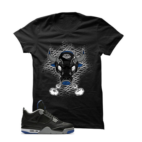 Jordan 4 Game Royal Black T Shirt (Sneaker Bull)