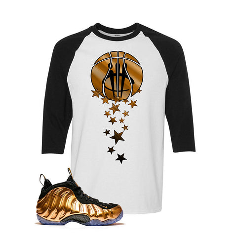 Foamposite One Copper White And Black Baseball T's (Magic Ball)