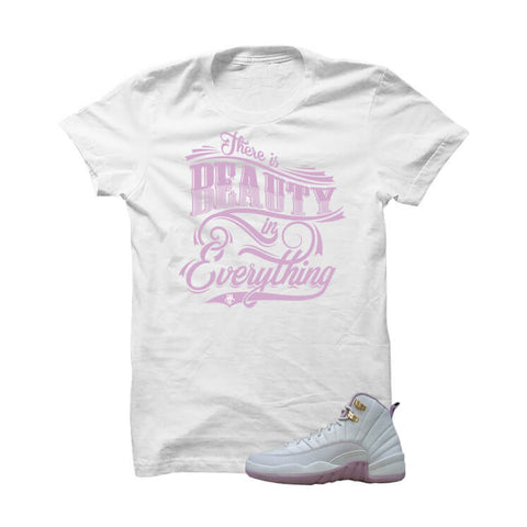 Jordan 12 Gs Heiress Plum Fog White T Shirt (Mario Bros)