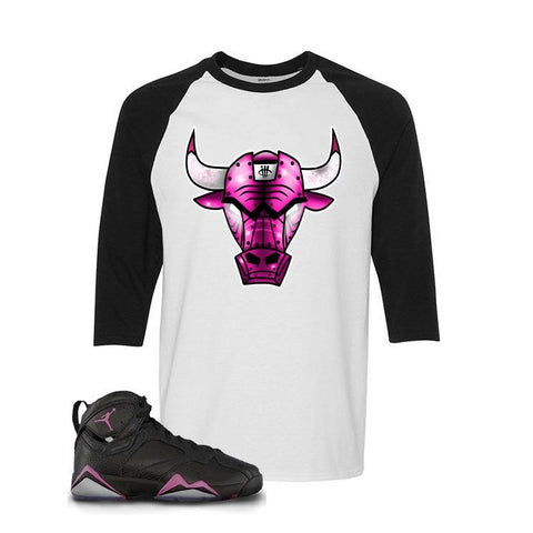 Jordan 7 Gs Hyper Pink White And Black Baseball T's (Live Bull)