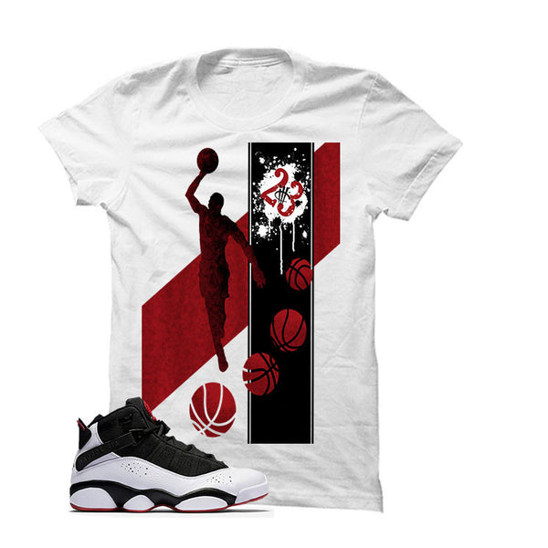 Jordan 6 Rings Black Gym Red - Official Matching Shirts