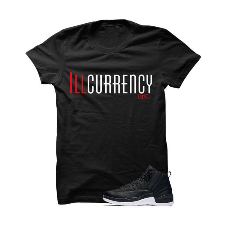 Jordan 12 Black Nylon Black T Shirt (illcurrency) - illCurrency Matching T-shirts For Sneakers and Sneaker Release Date News