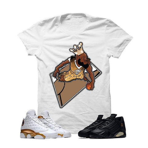 Jordan 13/14 Defining Moments Pack White T Shirt (King Bron)